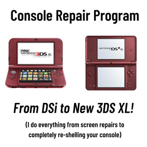 New Nintendo 3DS XL Repair, Hinge, Button, Motherboard, Shell, Camera