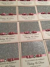 Personalised Glitter And  Wedding Invitations - Any Colour