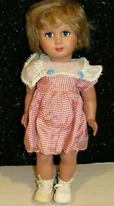 """Vintage 1960s Italy Italian Bonomi 14"""" Doll with Flirty Eyes Strung Unmarked HP"""