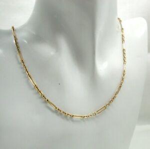 9 Carat Rose Gold Fancy Link Designer Necklace By Balestra