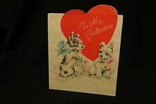 Vintage Terrier Valentine Card c. 1940s