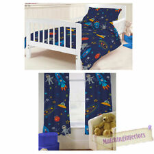 Boys' Rocket Ships and Space Children's Curtains