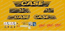 CASE CX35 MAXI MINI DIGGER COMPLETE DECALS STICKER SET