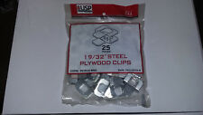 "MiTek USP 19//32/"" Steel Plywood Clips QTY:25 Pieces #PC1932-BMC  Lot Of2"