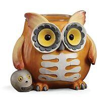 Lenox Halloween Skeleton Owl Votive Holder