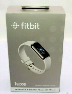 NEW SEALED Fitbit Luxe Fitness+Wellness Tracker Watch Soft Gold & Lunar White