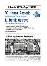 Uefa-EC III 89/90 fc hansa rostock-TJ banik ostrava, 13.09.1989