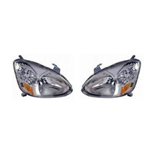 Fits 2003-2005 Toyota Echo Headlight Driver+Passenger Pair TO2518102+TO2519102