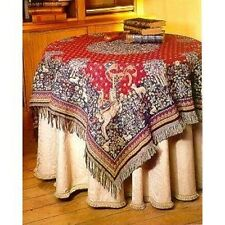 "NEW 60"" UNICORN BELGIAN TAPESTRY TABLE CHAIR THROW BED SPREAD 00718"