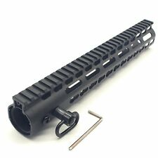 12 inch Ultralight KeyMod NSR Handguard Steel barrel nut  with QD sling swivel