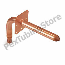 """Copper Stub Out Elbow for 1/2"""" PEX Tubing, with Ear, 3-1/2"""" x 6"""""""