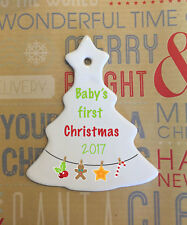 Personalised Christmas Baubles Ceramic Ornament Gift Decoration (single sided)