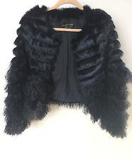 *NWT* LINDA RICHARDS LUXURY $592 Mongolian Lamb & Rabbit Fur Jacket XL 8 10