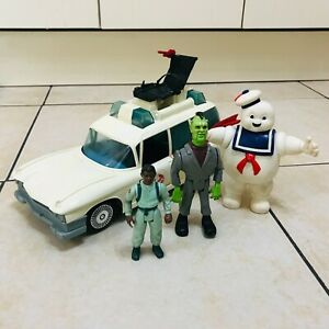 Vintage 80s Kenner Ghostbusters Ecto 1 Car & Figures Bundle Staypuft, Winston
