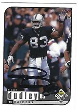 Autographed/Signed 1998 Upper Deck #130 Rickey Dudley Oakland Raiders Tough Sig