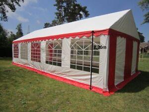 Partyzelt 5x10 m Gartenzelt Festzelt PVC wasserdicht - Seitenhöhe 2,20m !!