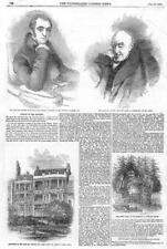 1855 Antique Print - LONDON  Rogers Thomas Lawrence Park Place St James  (148)
