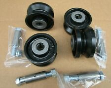 """3"""" OD Band Sawmill Carriage cast iron caster wheels carriage rollers track v"""