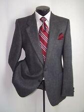 YSL Yves Saint Laurent Gray Herringbone 2 Buttons Wool Coat Jacket 40 R