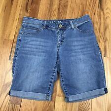Sonoma Life & Style Modern Fit Bermuda Jean Shorts Long Size 4 Cuffed Modest AQ