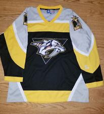 Nashville Predators jersey L mens  large RARE BLACK and mustard Starter NHL