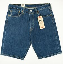 Levi's 501 size 32 Blue High Rise Classic Cotton Shorts NEW NWT