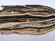 "25 Strands 14"" - 15"" India Handmade Water Buffalo Bone Beads Wholesale Lot (R-2)"