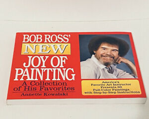 BOB ROSS, A SPECIAL BOOK TITLED NEW JOY OF PAINTING,  60  color Paintings