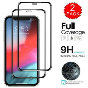 For iPhone 12 mini 12 Pro Max 11 XS 8 Full Cover Screen Protector Tempered Glass