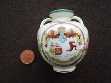 CRESTED WARE DOUGLAS ISLE OF MAN SMALL VASE 6.5 CMS TALL