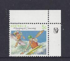 Reprint Stamps 5c Kayaking & Canoeing 1K  Top Right Corner