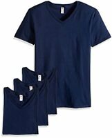 Fruit of the Loom Men's V-Neck T-Shirt (4 Pack), Jnavy,, Jnavy, Size Medium QsTO