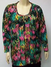 DUTCH DESIGNER YOEK,MULTICOLORED TUNIC THEIR SIZE LARGE,POLYESTER AND SPANDEX.