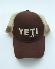Yeti Snap Back Mesh Hat Trucker Cap Brown Cooler
