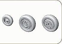 Eduard 1/48 F-16 late Wheels avec gravé pièces # 648007