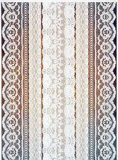 Carta di riso per Decoupage Decopatch Scrapbook Craft sheet Marrone Pizzo Bianco