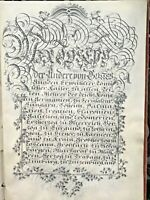 18c Handwritten Patent Nobility Grant Arms Manuscript Calligraphy Signed Emperor