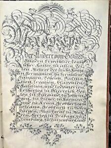 18c Handwritten Patent Nobility Grant Arms Manuscript Calligraphy Signed Emperor