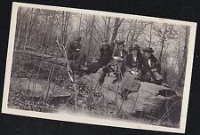 Vintage Antique Photograph Women in Great Outfits Sitting on Top of Stone Wall