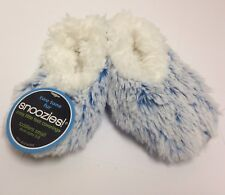 Snoozies Toddler Two Tone Fur Cozy Little Foot Covering Slippers, Sz 5-6, Aqua