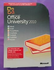 MICROSOFT OFFICE UNIVERSITY 2010 FULL CD VERSION GENUINE WITH PRODUCT KEY