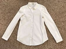 Burberry $295 White 100% Cotton Blouse Shirt US 8 UK 10 ITA 42 small S XS button