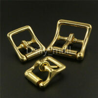 Brass Middle Bar Roller Buckles For Bag Strap Bridle Halter Harness Hardware