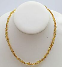 Lady's One Strand of Faceted Briolette Cut Yellow Sapphire Necklace