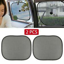 2x Car Side Window Black Mesh Sun Shade Visor Anti-UV Cover Shield For Baby Kids