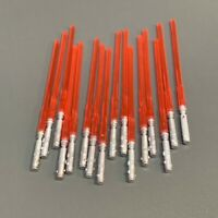 16PCS Red Lightsaber Weapon Sword Star Wars Clone Darth Vader Figure Accessories