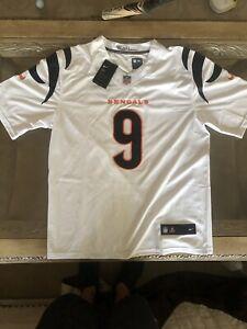 NEW Mens Large Joe Burrow #9 Cincinnati Bengals Men's Game Team Jersey White