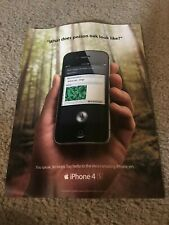 Vintage 2012 APPLE iPHONE 4S Poster Print Ad Art 1ST ONE w/ SIRI INTEGRATED RARE