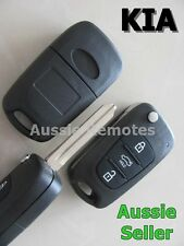 KIA Remote Flip Key Shell 3 BUTTON For KIA SORENTO SPORTAGE CERATO RIO with logo