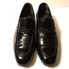 Florsheim Genuine Leather Penny Loafers Shoes Black Sz 10.5C Men's Moc Toe (472